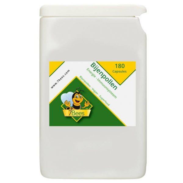 Bijenpollen-180-capsules-NL-Frontaal