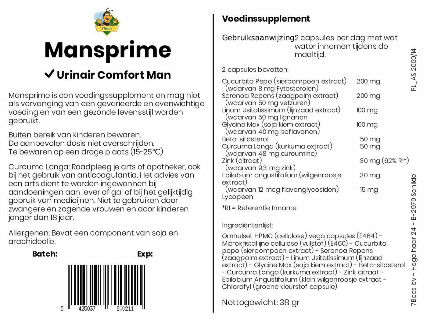 Mansprime - Ondersteunt het normaal blijven plassen bij de volwassen man 3